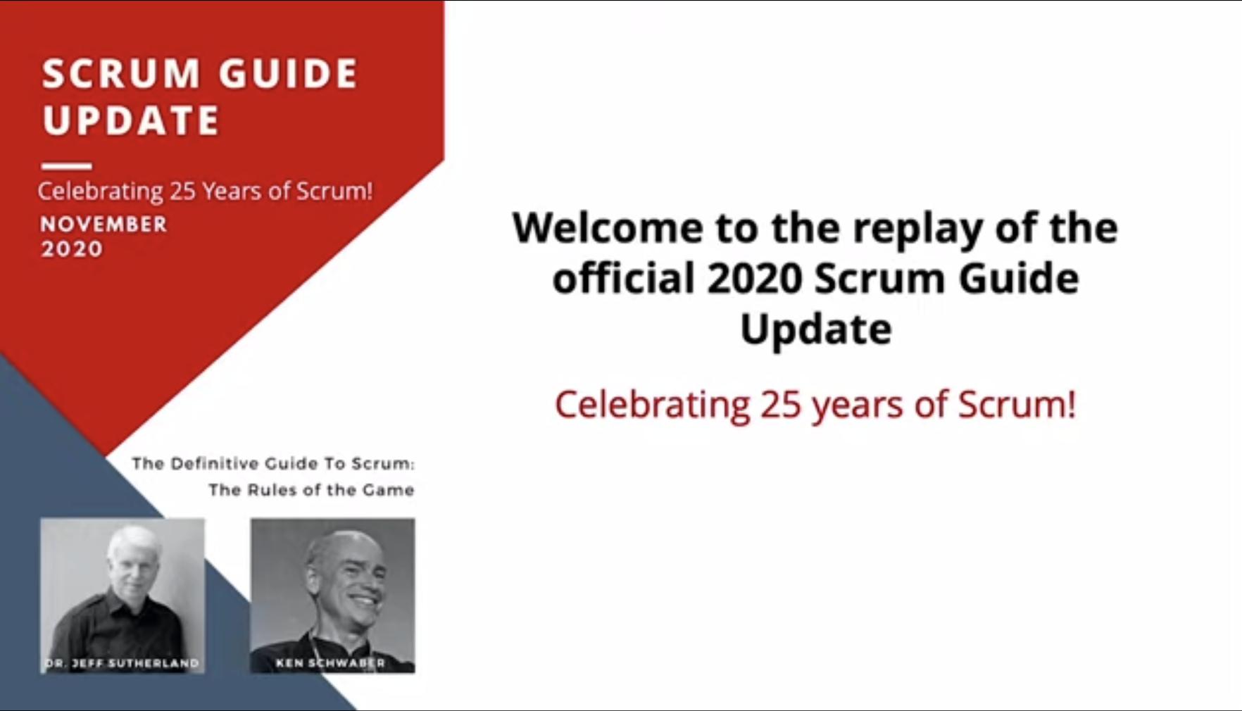 Publicación de la nueva Guía de Scrum (Noviembre 2020)